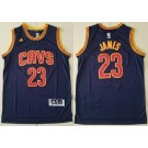 Men's Cleveland Cavaliers #23 LeBron James Navy Adidas Swingman Jersey