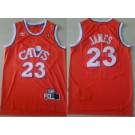 Men's Cleveland Cavaliers #23 LeBron James Orange Hollywood Classic Swingman Jersey