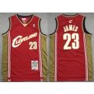 Men's Cleveland Cavaliers #23 LeBron James Red 2003 Throwback Swingman Jersey