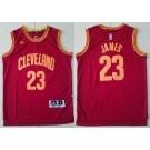 Men's Cleveland Cavaliers #23 LeBron James Red Adidas Swingman Jersey