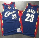 Men's Cleveland Cavaliers #23 Lebron James Navy 2008 Throwback Authentic Jersey