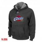 Men's Cleveland Cavaliers Dark Grey Printed Pullover Hoodie