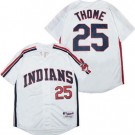 Men's Cleveland Indians #25 Jim Thome White 1993 Throwback Jersey