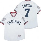 Men's Cleveland Indians #7 Kenny Lofton White 1976 Turn Back The Clock Jersey