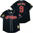 Men's Cleveland Indians #9 Carlos Baerga Navy 1995 Cooperstown Throwback Cool Base Jersey