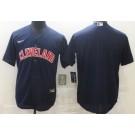 Men's Cleveland Indians Blank Navy Alternate Cool Base Jersey