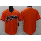 Men's Cleveland Indians Blank Orange Cool Base Jersey