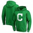 Men's Cleveland Indians Green Printed Pullover Hoodie