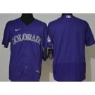 Men's Colorado Rockies Blank Purple FlexBase Jersey