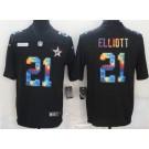 Men's Dallas Cowboys #21 Ezekiel Elliott Limited Black Crucial Catch Vapor Untouchable Jersey