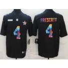 Men's Dallas Cowboys #4 Dak Prescott Limited Black Crucial Catch Vapor Untouchable Jersey