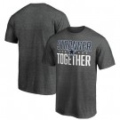 Men's Dallas Cowboys Heather Charcoal Stronger Together Printed T-Shirt 0912