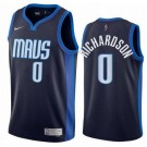 Men's Dallas Mavericks #0 Josh Richardson Navy 2021 Earned Icon Hot Press Jersey
