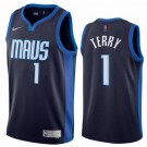 Men's Dallas Mavericks #1 Tyrell Terry Navy 2021 Earned Icon Hot Press Jersey