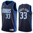 Men's Dallas Mavericks #33 Willie Cauley Stein Navy 2021 Earned Icon Hot Press Jersey