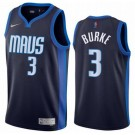 Men's Dallas Mavericks #3 Trey Burke Navy 2021 Earned Icon Hot Press Jersey