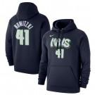 Men's Dallas Mavericks #41 Dirk Nowitzki Printed Hoodie 0703