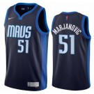 Men's Dallas Mavericks #51 Boban Marjanovic Navy 2021 Earned Icon Hot Press Jersey