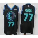 Men's Dallas Mavericks #77 Luka Doncic Black 2020 City Icon Sponsor Swingman Jersey