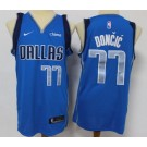 Men's Dallas Mavericks #77 Luka Doncic Blue 2020 Icon Sponsor Swingman Jersey