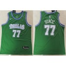 Men's Dallas Mavericks #77 Luka Doncic Green Icon Swingman Jersey