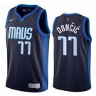 Men's Dallas Mavericks #77 Luka Doncic Navy 2021 Earned Icon Hot Press Jersey