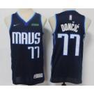 Men's Dallas Mavericks #77 Luka Doncic Navy 2021 Earned Icon Sponsor Swingman Jersey