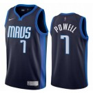 Men's Dallas Mavericks #7 Dwight Powell Navy 2021 Earned Icon Hot Press Jersey