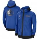 Men's Dallas Mavericks Blue Showtime Performance Full Zip Hoodie Jacket