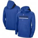 Men's Dallas Mavericks Blue Spotlight On Court Practice Performance Pullover Hoodie