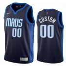 Men's Dallas Mavericks Custom Navy 2021 Earned Icon Hot Press Jersey