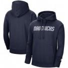 Men's Dallas Mavericks Navy Statement Edition Fleece Pullover Hoodie