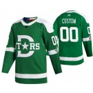 Men's Dallas Stars Customized Green 2020 Winter Classic Authentic Jersey