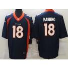 Men's Denver Broncos #18 Peyton Manning Limited Navy Vapor Untouchable Jersey