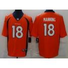 Men's Denver Broncos #18 Peyton Manning Limited Orange Vapor Untouchable Jersey