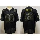 Men's Denver Broncos #58 Von Miller Limited Black 2020 Salute To Service Jersey