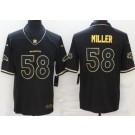 Men's Denver Broncos #58 Von Miller Limited Black Gold Vapor Untouchable Jersey
