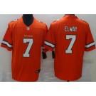 Men's Denver Broncos #7 John Elway Limited Orange Rush Color Jersey