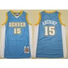 Men's Denver Nuggets #15 Carmelo Anthony Light Blue 2003 Throwback Swingman Jersey