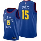 Men's Denver Nuggets #15 Nikola Jokic Blue Statement Icon Hot Press Jersey