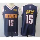 Men's Denver Nuggets #15 Nikola Jokic Navy Icon Sponsor Swingman Jersey