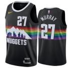 Men's Denver Nuggets #27 Jamal Murray Black City Icon Hot Press Jersey