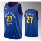 Men's Denver Nuggets #27 Jamal Murray Blue Statement Icon Hot Press Jersey