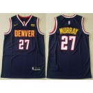 Men's Denver Nuggets #27 Jamal Murray Navy 2021 Icon Sponsor Swingman Jersey