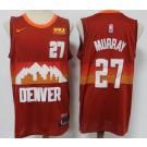 Men's Denver Nuggets #27 Jamal Murray Red 2021 City Icon Sponsor Swingman Jersey