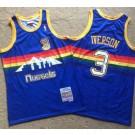 Men's Denver Nuggets #3 Allen Iverson Blue 2006 Throwback Authentic Jersey