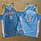 Men's Denver Nuggets #3 Allen Iverson Light Blue 2006 Throwback Authentic Jersey