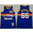 Men's Denver Nuggets #55 Dikembe Mutombo Blue 1991 Throwback Swingman Jersey