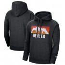 Men's Denver Nuggets Black 2021 City Edition Essential Logo Fleece Pullover Hoodie