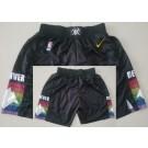 Men's Denver Nuggets Black City Swingman Shorts